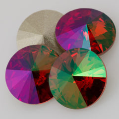 Four Swarovski Crystal 12mm 1122 Rivoli Light Siam Purple Haze (227 PH)