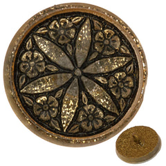 Czech 18mm Gold Glitter Star Flower Glass Button