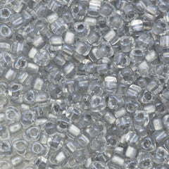 Miyuki Triangle Seed Bead 5/0 Inside Color Lined Silver 21g Tube (1105)