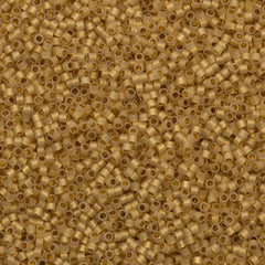 25g Miyuki Delica Seed Bead 11/0 24kt Lined Cream DB230