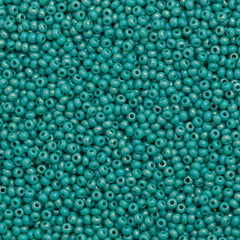 Czech Seed Bead 10/0 Opaque Turquoise AB 15g (64130)