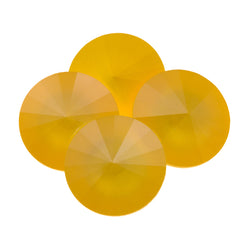Four Swarovski Crystal 14mm 1122 Rivoli Buttercup (L124S)