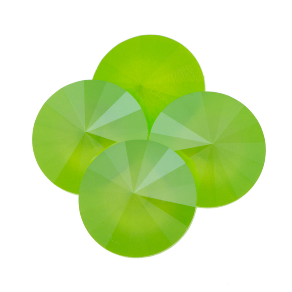 Four Swarovski Crystal 12mm 1122 Rivoli Lime (L125S)