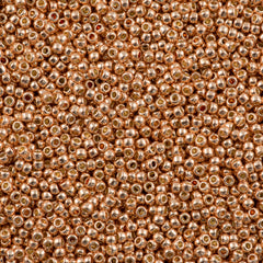 Toho Round Seed Bead 11/0 Permanent Finish Galvanized Rose Gold 19g Tube (551PF)