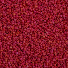 Miyuki Delica Seed Bead 10/0 Matte Opaque Luster Red 7g Tube DBM362