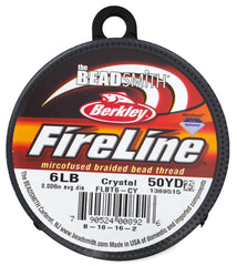 Crystal Fireline 6Lb Size D .2mm Beading Thread 50 yard Spool