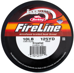 Crystal Fireline 10Lb .25mm Beading Thread 125 yard Spool