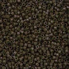 Miyuki Delica Seed Bead 11/0 Opaque Dyed Dark Olive 7g Tube DB657
