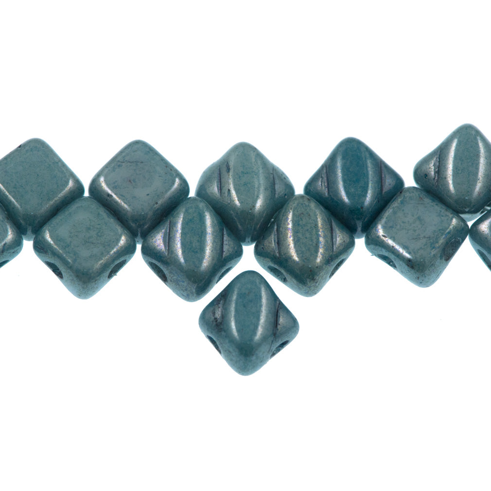 5mm Czech Silky Diamond Beads