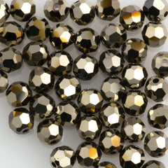 Swarovski round 4mm bead Crystal Metallic Light Gold 2x (001 MLGLD)
