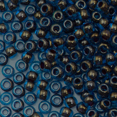 Toho Round Seed Bead 8/0 Inside Color Lined Raspberry Blue 5.5-inch tube (294)