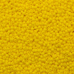 Czech Seed Bead 10/0 Opaque Dark Yellow 15g (83130)