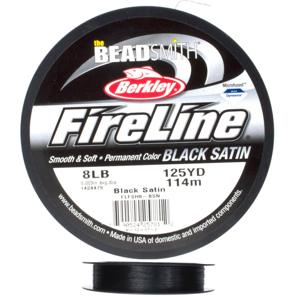 Fireline Black Satin 8Lb Beading Thread 125 yard Spool