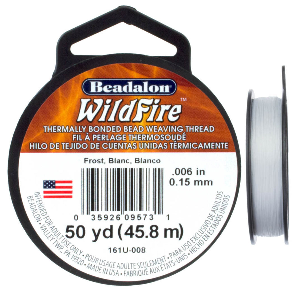 Beadalon WildFire Frost Beading Thread 50 yard Spool