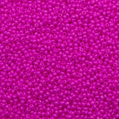 Czech Seed Bead 10/0 Opaque Dyed Rose 15g (16177)