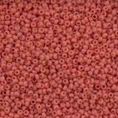Miyuki Round Seed Bead 15/0 Duracoat Opaque Light Watermelon 2-inch Tube (4464)