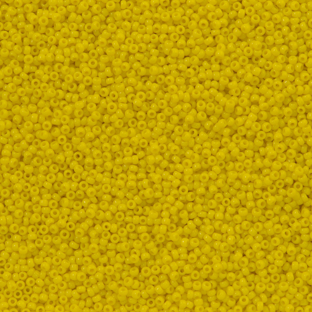 Toho Round Seed Bead 15/0 Opaque Yellow 2.5-inch Tube (42)