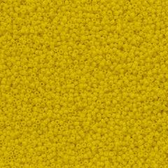 Toho Round Seed Bead 15/0 Opaque Yellow 10g (42)