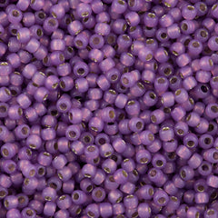 Toho Round Seed Beads 6/0 Silver Lined Milky Amethyst (2108)