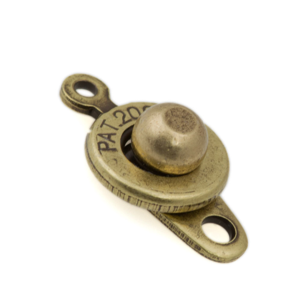 Antique Brass Ball and Socket 9x16mm Clasp