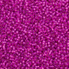 Toho Round Seed Beads 11/0 Silver Lined Hot Pink 15g (2107)