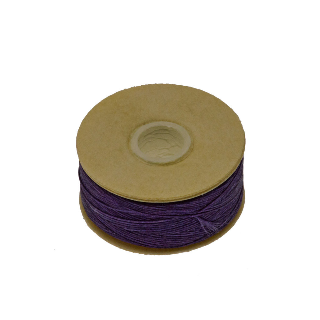 Size B Nymo Nylon Dark Purple Thread 72 yard bobbin