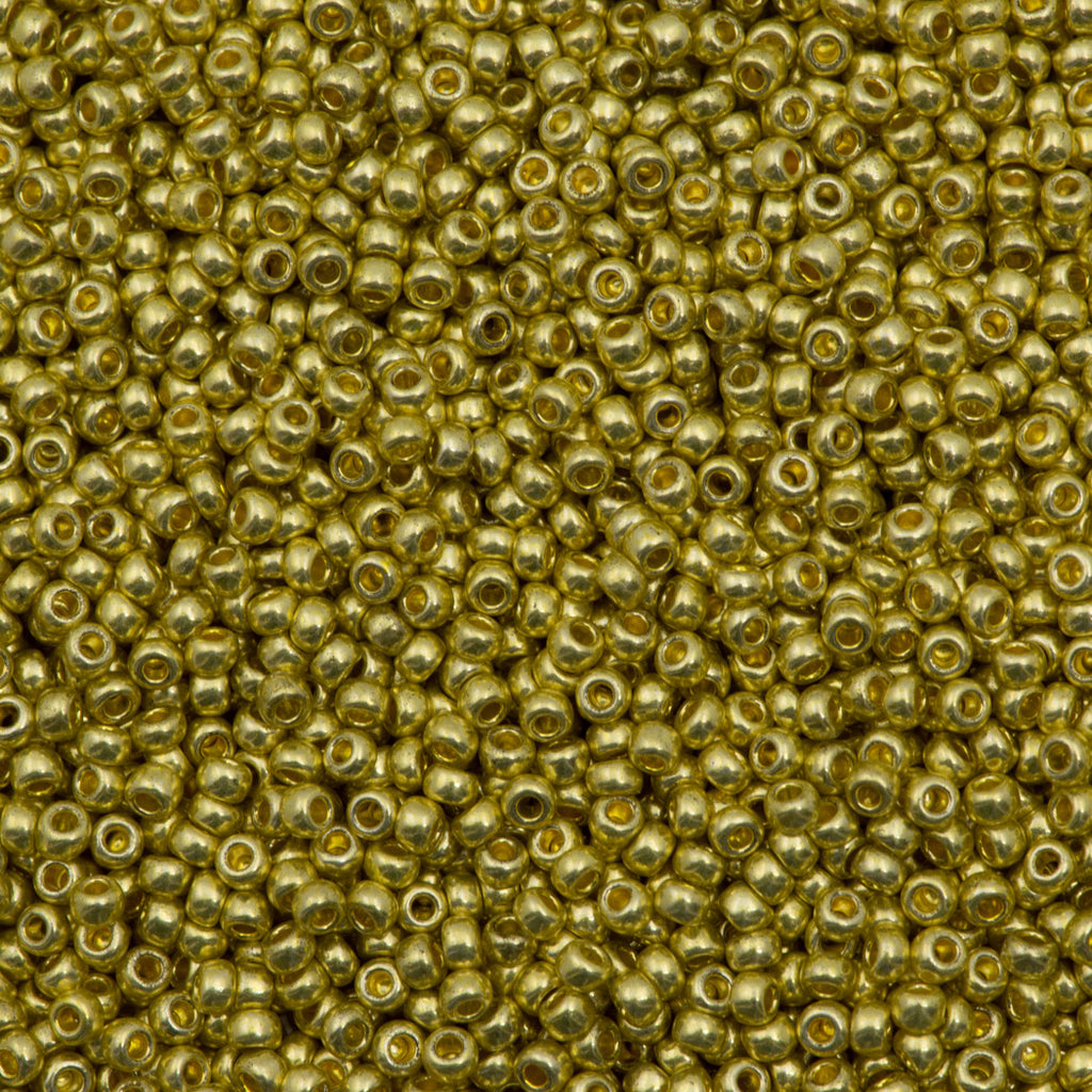 Czech Seed Bead 10/0 Metallic Light Gold Solgel 15g (18181)