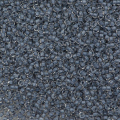 Czech Seed Bead 10/0 Color Lined Grey 15g (38342)