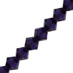144 Swarovski Crystal 4mm Xilion Bicone Bead Purple Velvet (277)