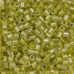 Miyuki Delica Seed Bead 8/0 Crystal Inside Color Lined Chartreuse 6.7g Tube DBL910