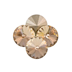 Six Swarovski Crystal SS39 1122 Rivoli Light Silk (261)