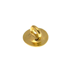 6mm Button back gold plated brass round 100pc