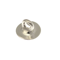 6mm Button back silver plated brass round 100pc