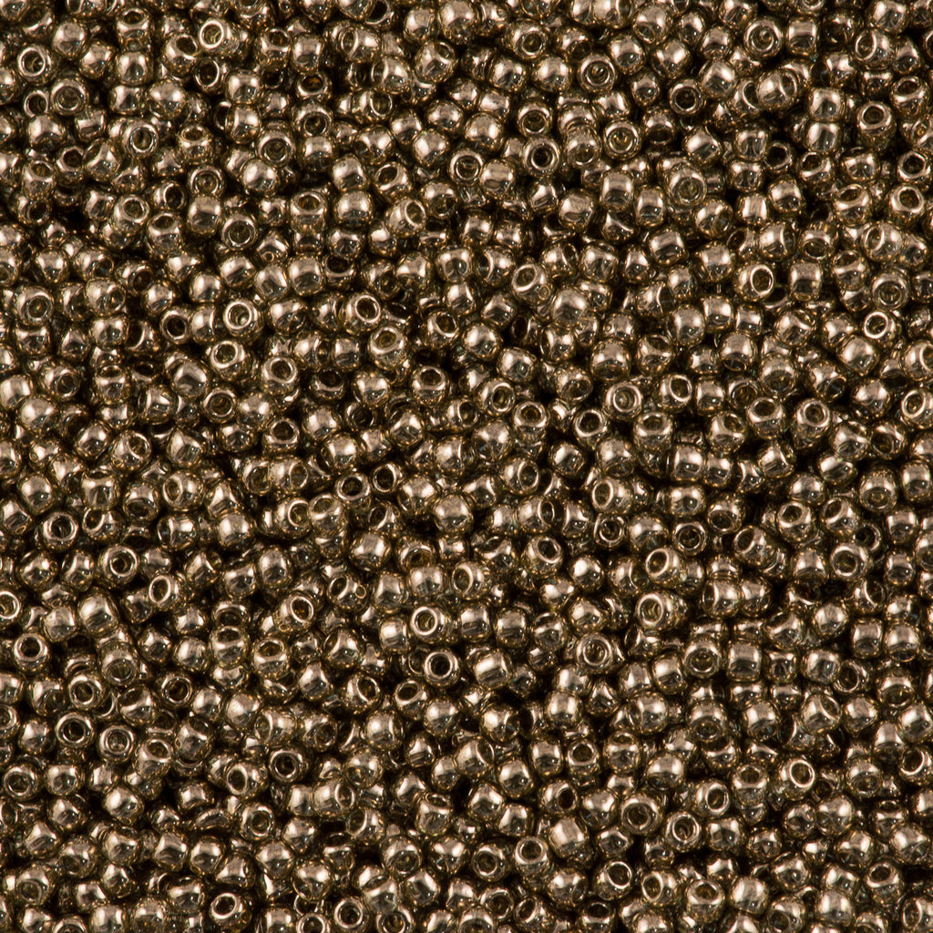 Toho Round Seed Bead 11/0 Transparent Montana Gold Luster 19g Tube (204)