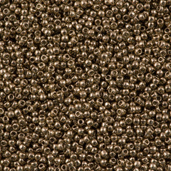 50g Toho Round Seed Beads 11/0 Transparent Montana Gold Luster (204)