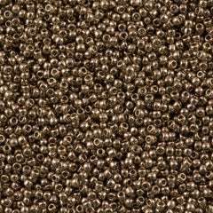 Toho Round Seed Beads 11/0 Transparent Montana Gold Luster 15g (204)