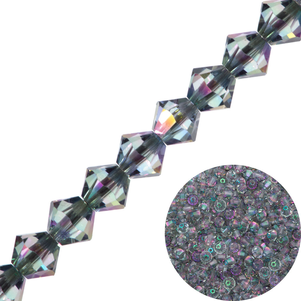 144 Swarovski 5328 Xilion 3mm Bicone Beads Crystal Paradise Shine (001 PARSH)