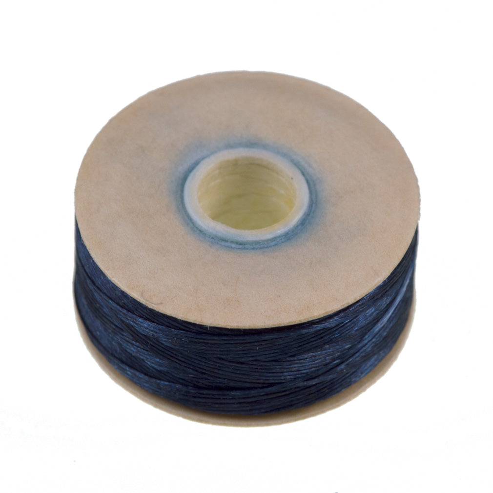 Size B Nymo Nylon Blue Thread 72 yard bobbin