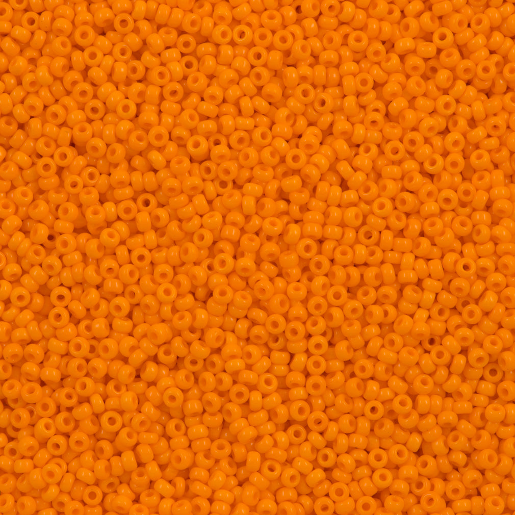 50g Miyuki Round Seed Bead 11/0 Opaque Light Orange (405)