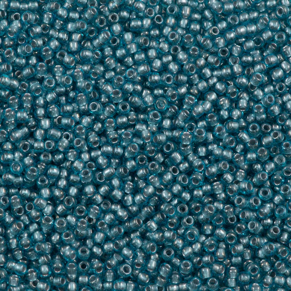 Toho Round Seed Bead 11/0 Inside Color Lined Aqua 19g Tube (285)