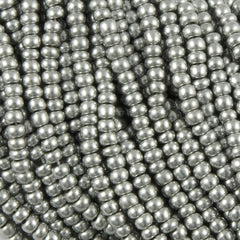 Czech Seed Bead Bright Silver 30g 6/0 (01700)