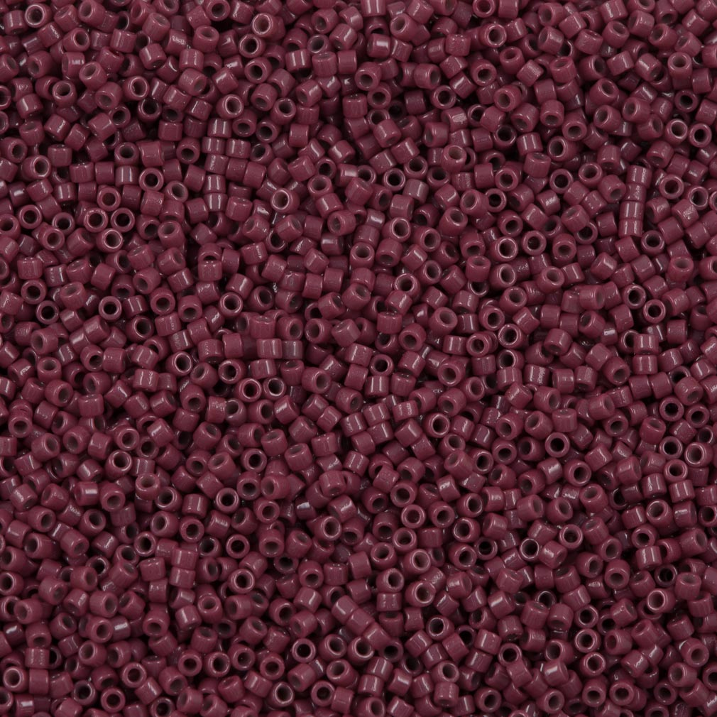 Miyuki Delica Seed Bead 11/0 Duracoat Opaque Grape Purple 7g Tube DB2355