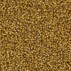 Miyuki Delica Seed Bead 15/0 24kt Matte Gold Plated 2-inch Tube DBS331