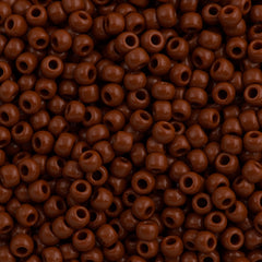 Toho Round Seed Beads 6/0 Opaque Light Brown 30g (46L)