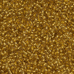 Toho Round Seed Bead 11/0 24kt Gold Lined Crystal 15g (701)