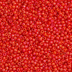 50g Toho Round Seed Bead 11/0 Opaque Coral AB (410)