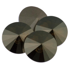 Four Swarovski Crystal 12mm 1122 Rivoli Crystal Bronze Shade (001 BRSH)
