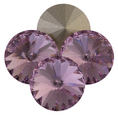 Four Swarovski Crystal 14mm 1122 Rivoli Light Amethyst (212)