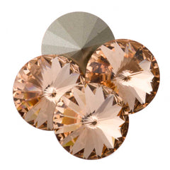 Four Swarovski Crystal 14mm 1122 Rivoli Light Peach (362)