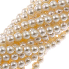 200 Swarovski 5810 3mm Round Cream Pearl Beads